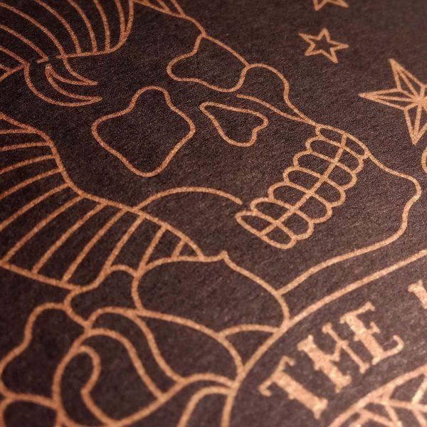Jailhouse illustration Elvis Skull by Dot Creative Studio